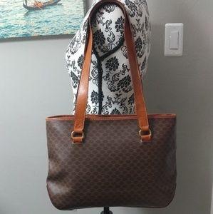 Celine Macadam Brown Shoulder Bag